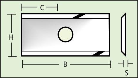 HM Knive 7.5x12x1.5 Z=2