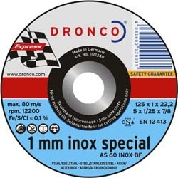 Dronco cutting disc AS 60 T 125 x 1 x 22 mm