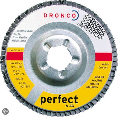 Dronco Disco deflettore 115 x 22 mm Gr.120