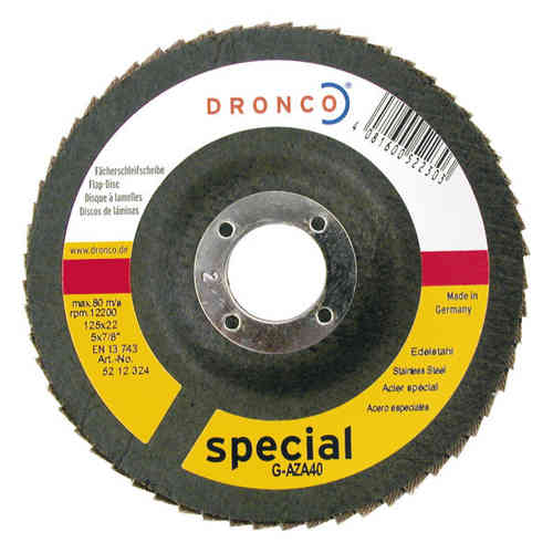 Dronco G-AZA 125 mm 80 Grit Zirconium Flap Disc