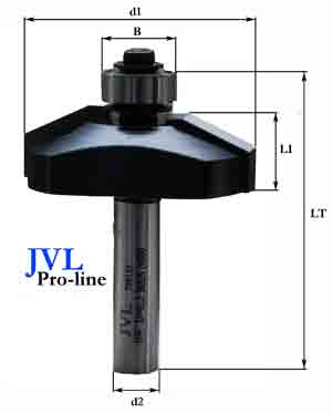 JVL pro-line Raised panel chamfer bit 25°