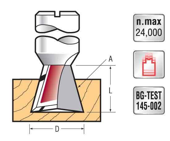 Titman dovetail router bit 10x9 10°